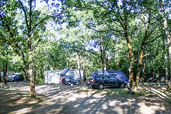 The campsite with spacious locations